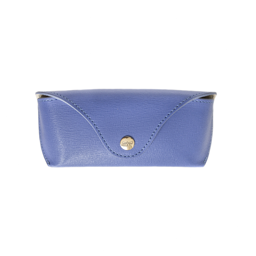 PAM Plum blue leather eyewear case