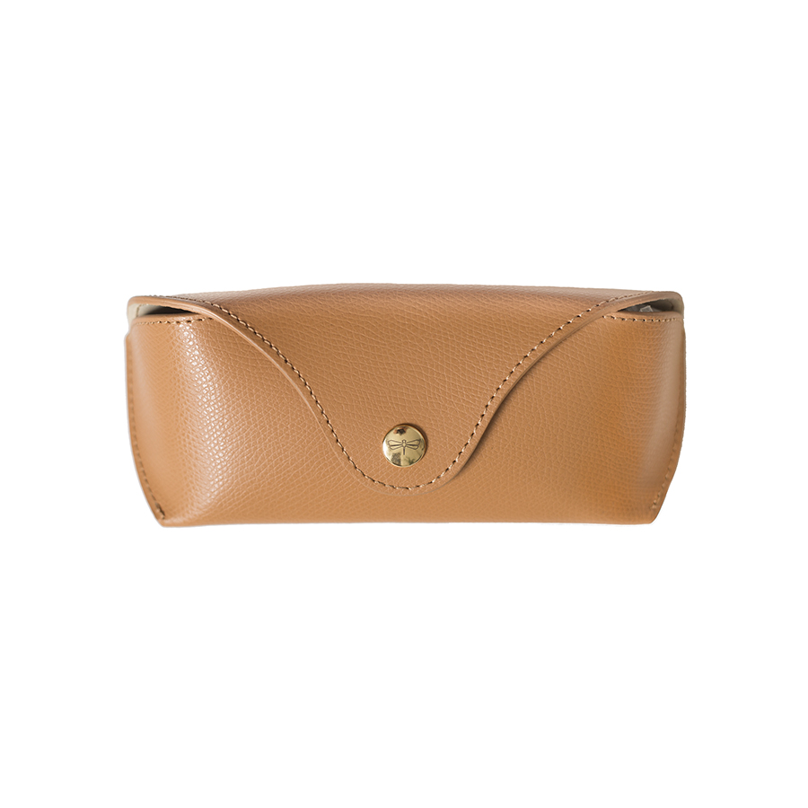 PAM Toffee leather eyewear case