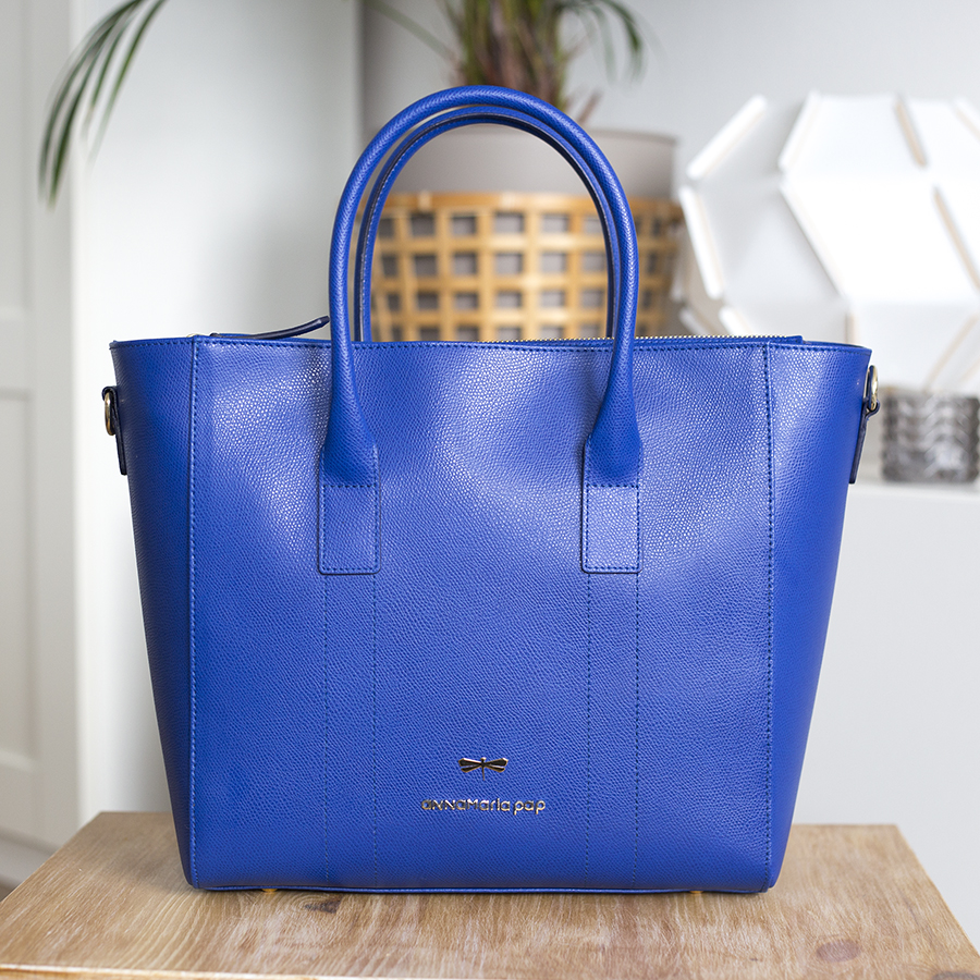 POLLY Royablue leather handbag