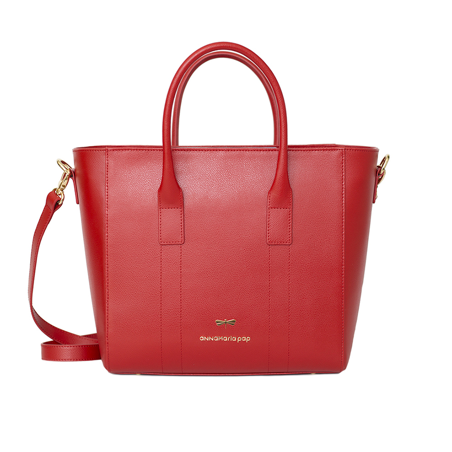 POLLY Sour cherry leather handbag