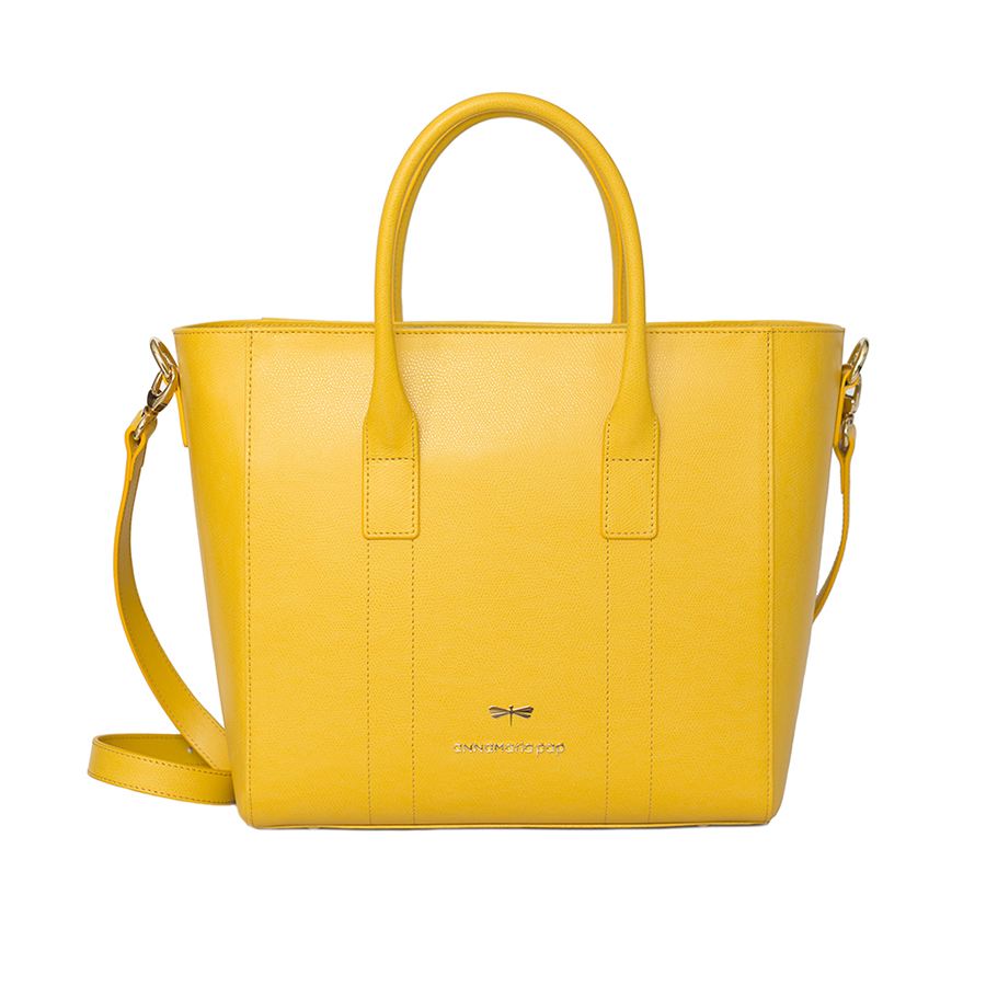 POLLY Sunshine leather handbag