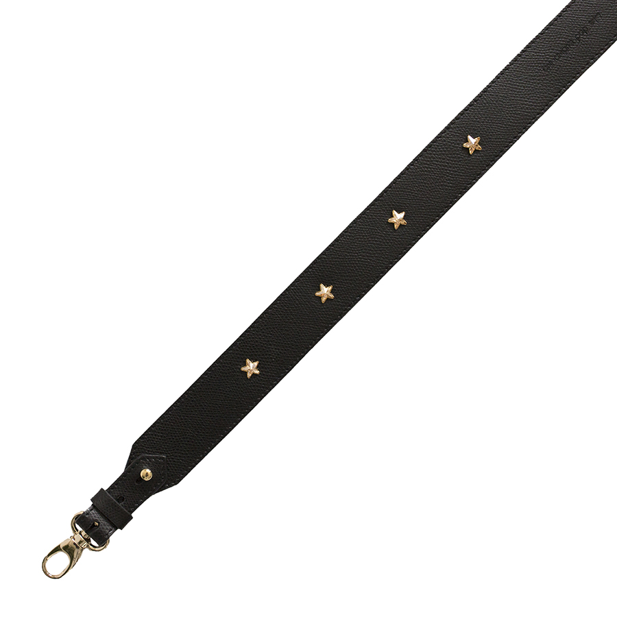 Wide black swarovski strap