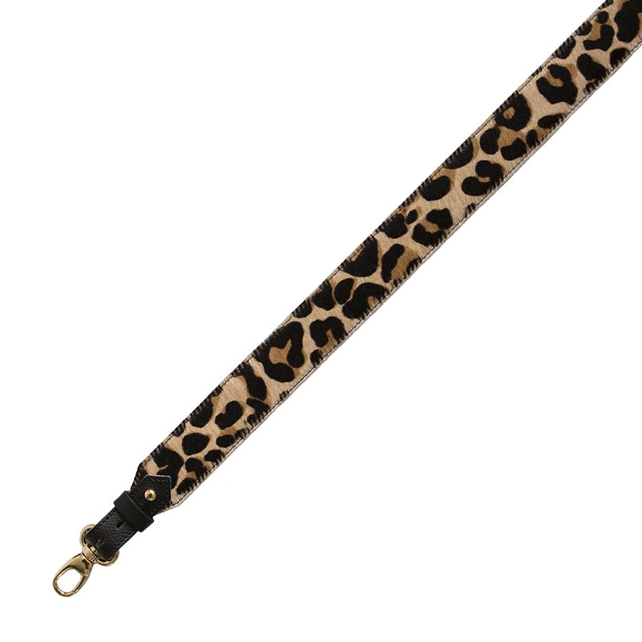 Wide leopard pattern strap