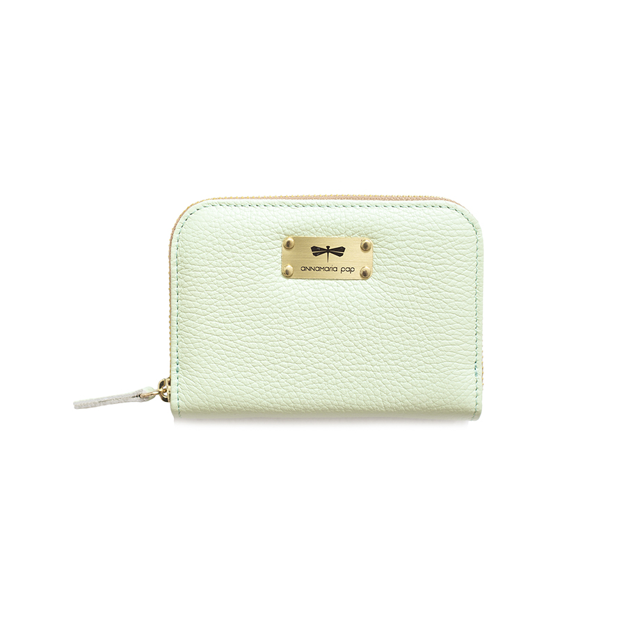 VICKY Mint leather wallet