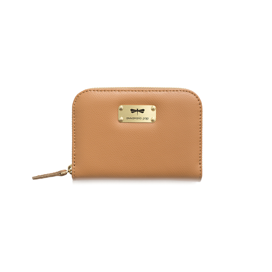 VICKY Toffee leather wallet