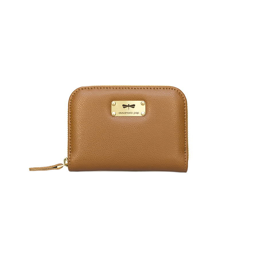 VICKY Cinnamon leather wallet