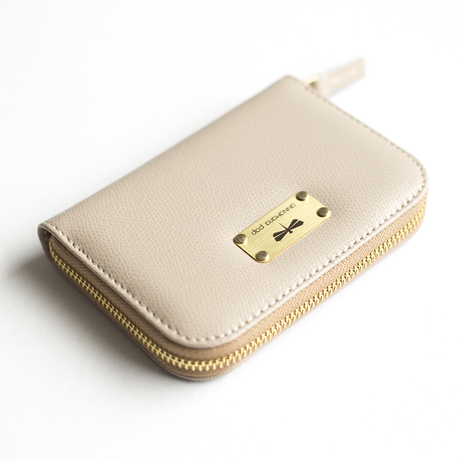 VICKY Almondcream leather wallet