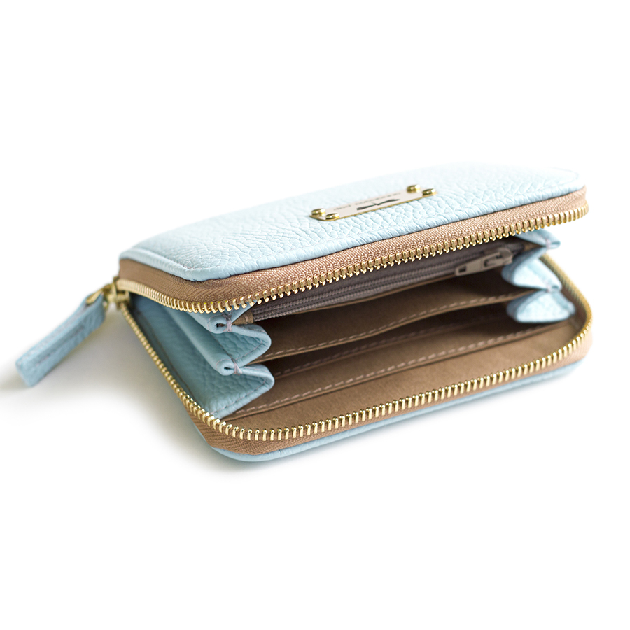 VICKY Ocean leather wallet