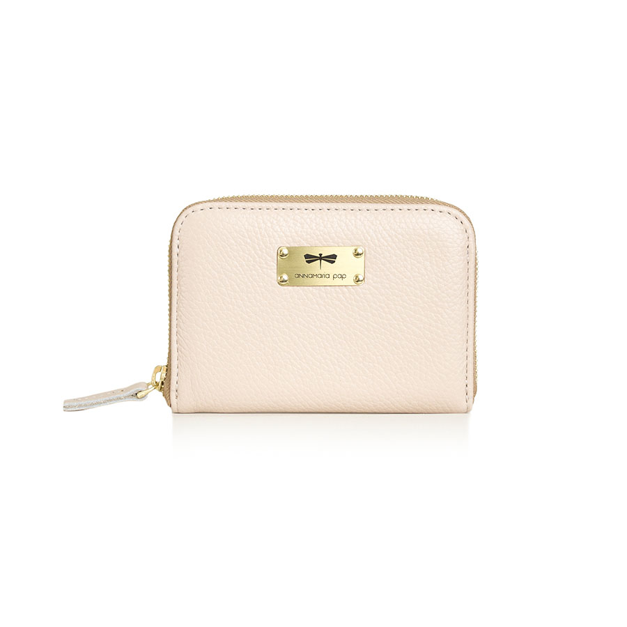 VICKY Powderpink leather wallet