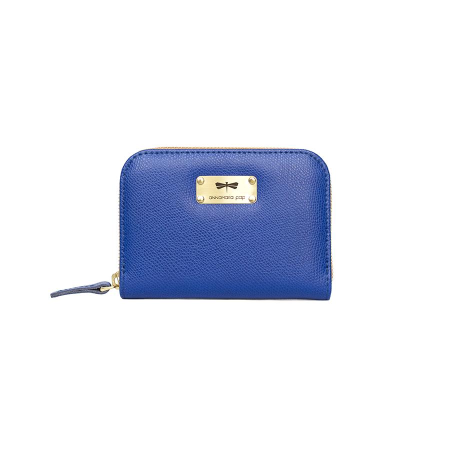 VICKY Royalkék bőrpénztárca