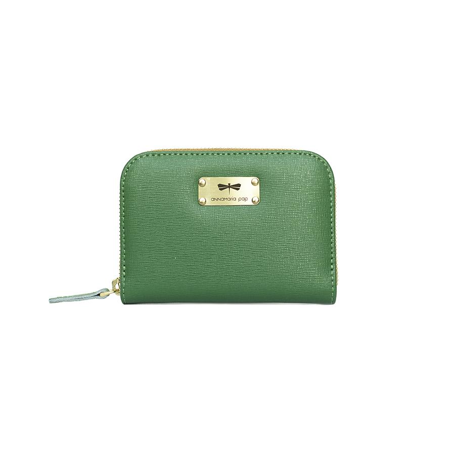 VICKY Smaragdzöld bőrpénztárca