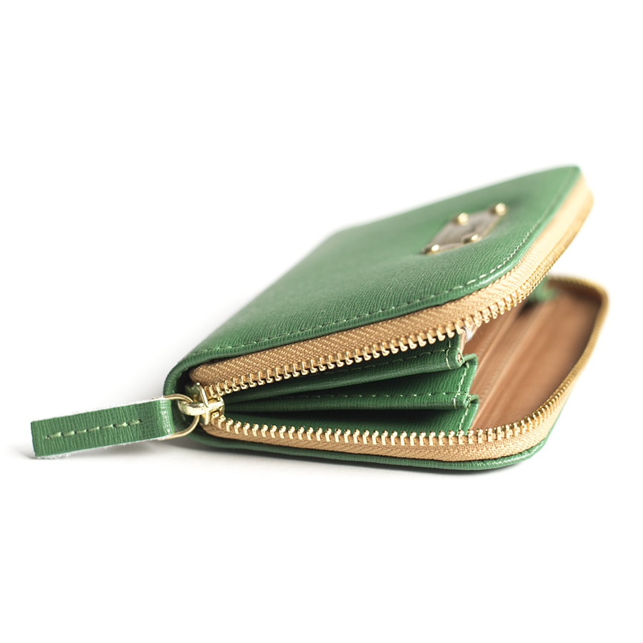 VICKY Emerald leather wallet