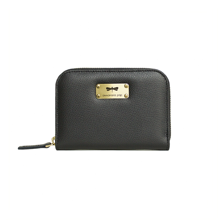 VICKY Black Cross leather wallet