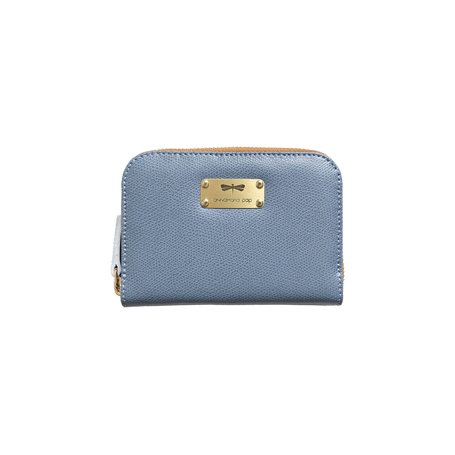 VICKY Denim leather wallet