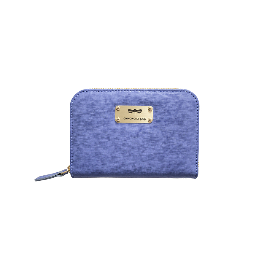VICKY Plum blue leather wallet