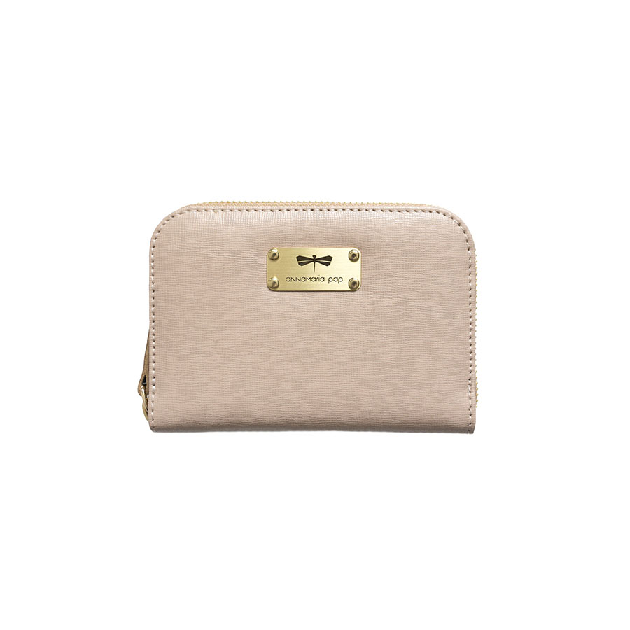 VICKY Nude leather wallet