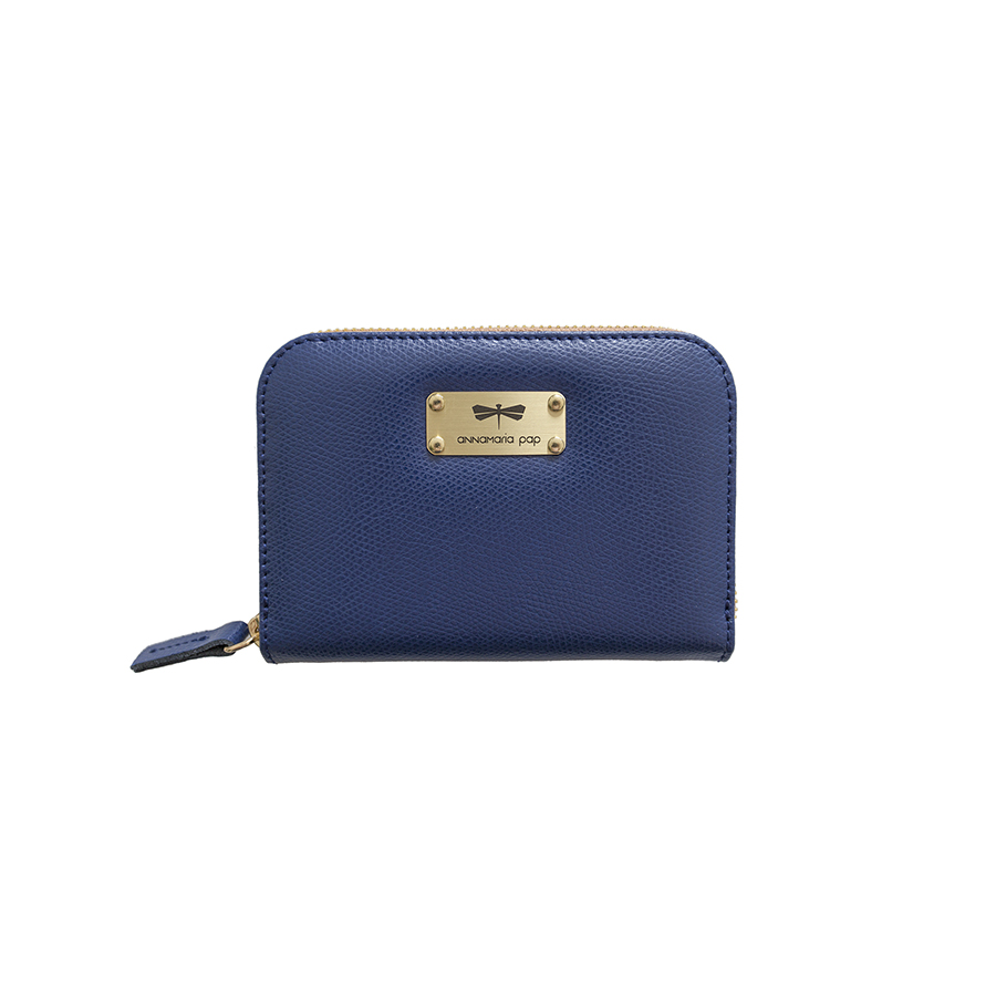 VICKY Navyblue leather wallet