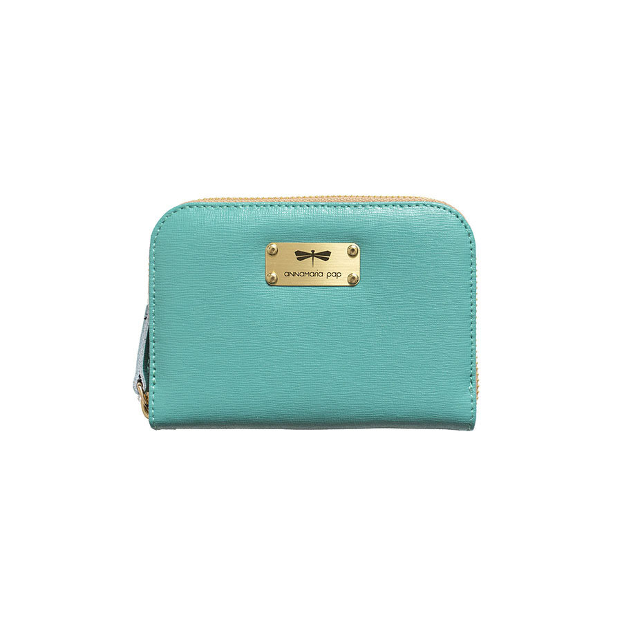 VICKY Turquoise leather wallet
