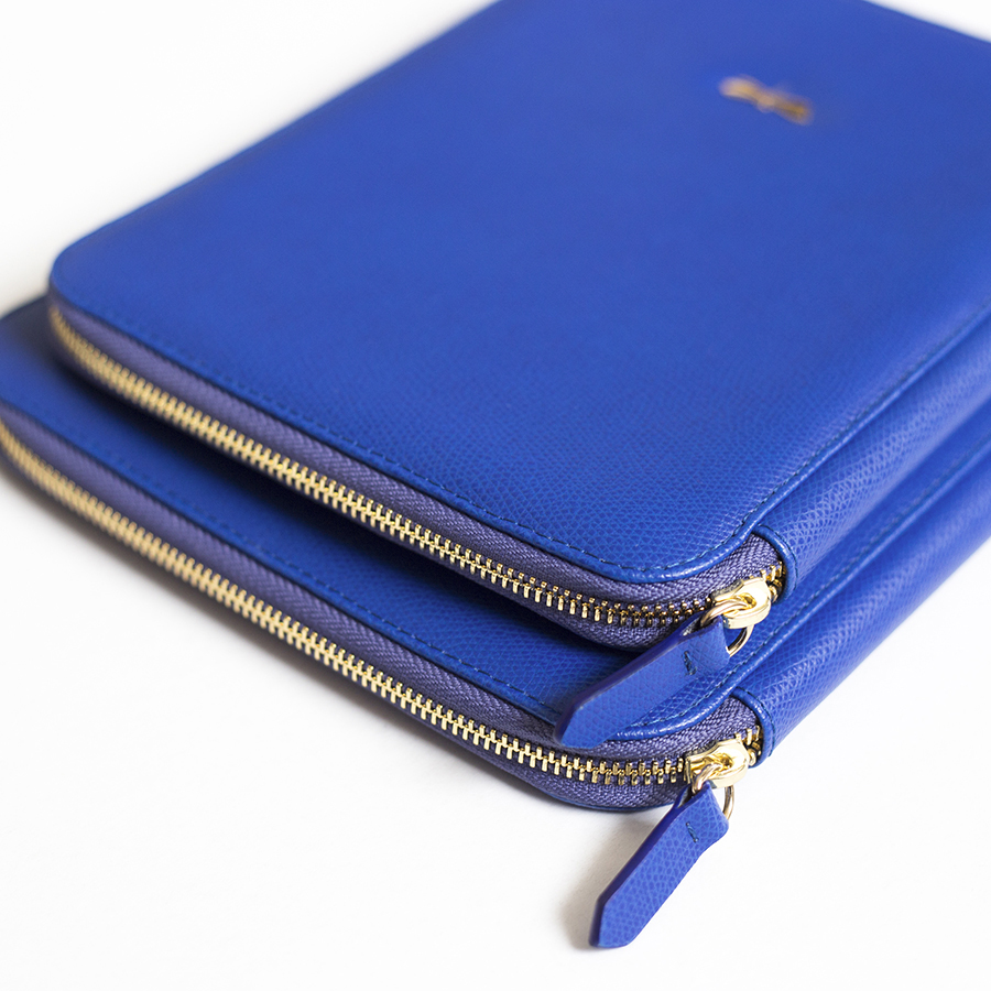 ARIA Royalblue leather case (smaller)