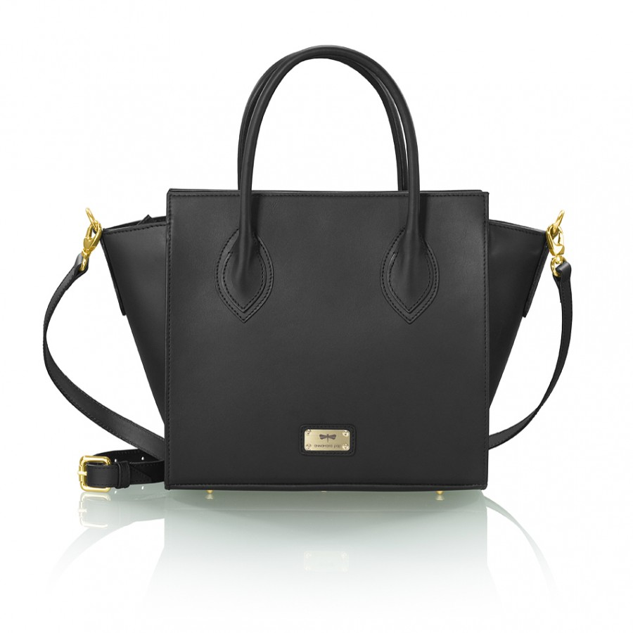 LUCILLA Black leather handbag